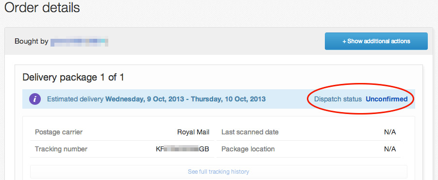 ebays tracking not working posted my item on the 8    - The