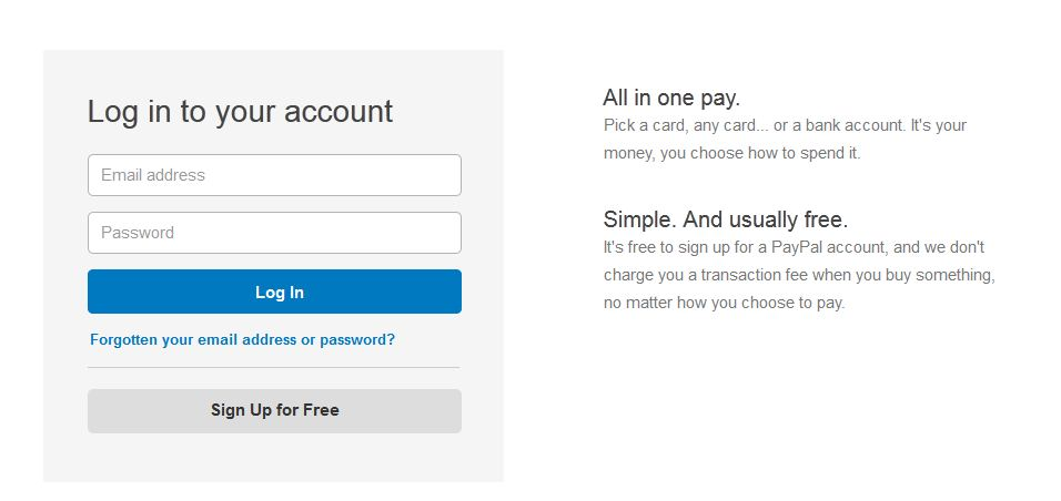 Paypal Login Problem The Ebay Community