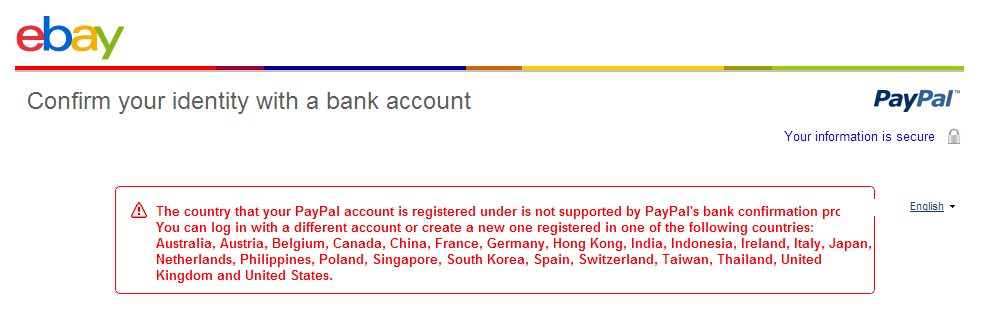Can T Set Item On Sale Paypal Problems The Ebay Community