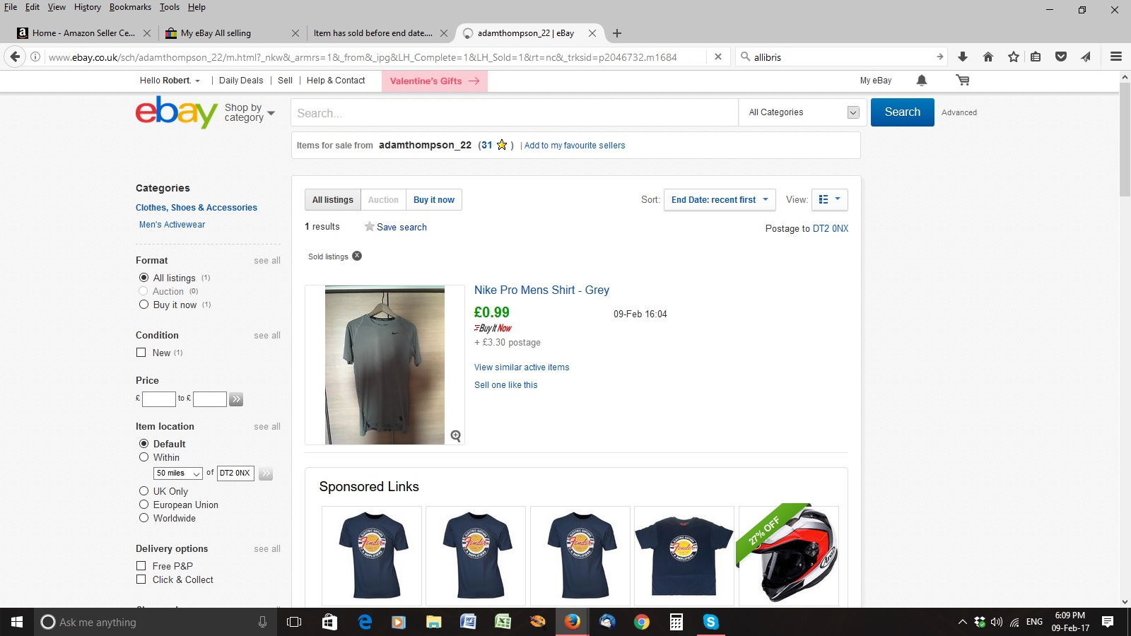 how to see a report of sold items on ebay