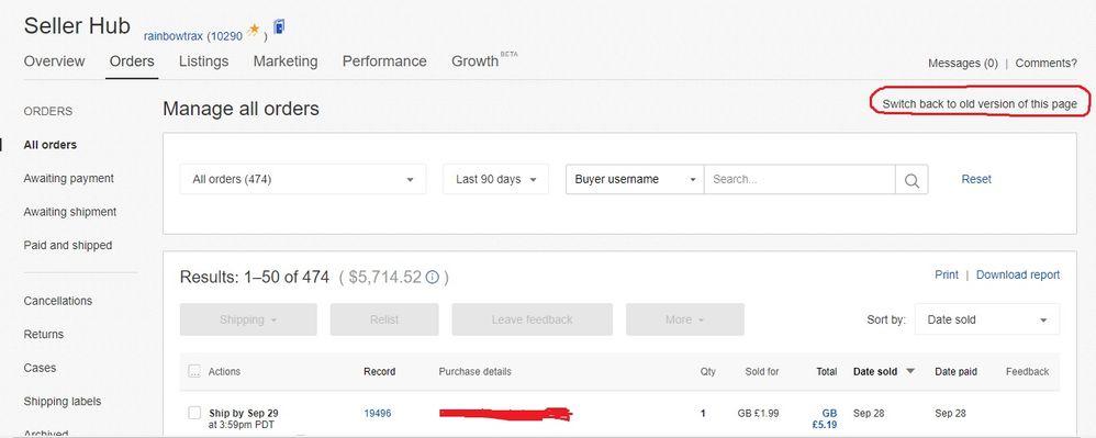 Seller Hub Help Please The Ebay Community